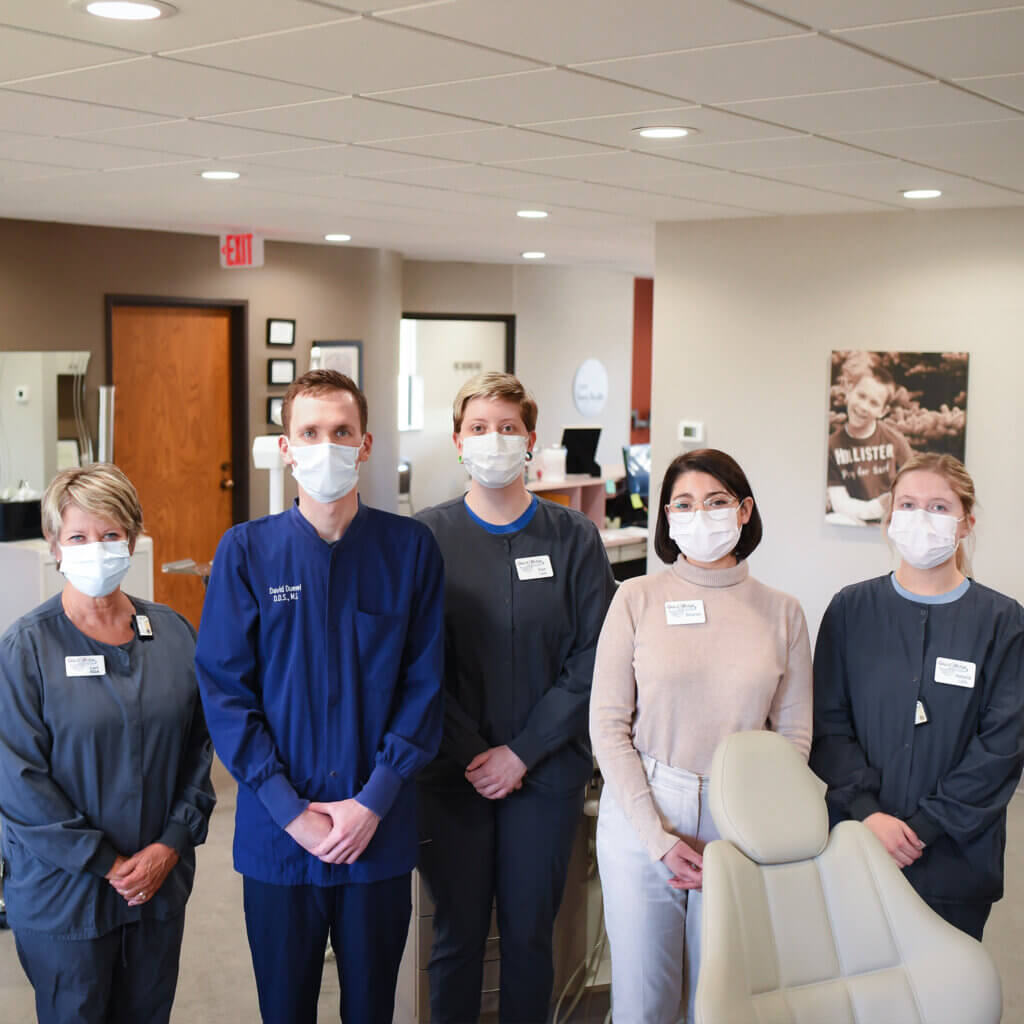 Great River Orthodontists with masks on
